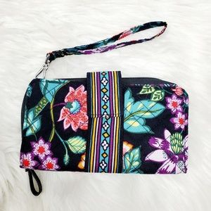 Vera Bradley RFID Combo Wristlet Wallet Floral